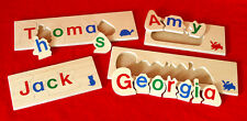Children's NAME JIGSAW PUZZLE 7-11 LETTERS personalised educational wooden toy