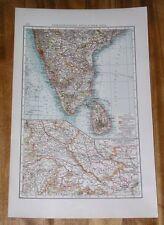 1904 MAP OF SOUTHERN BRITISH INDIA / MADRAS CHENNAI CEYLON SRI LANKA