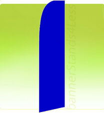 Feather Swooper Flutter Tall 11.5 ft Banner Sign Flag - Blue Solid Color bb