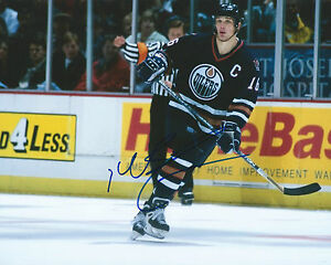 GFA Edmonton Oilers KELLY BUCHBERGER Signed 8x10 Photo K1 COA