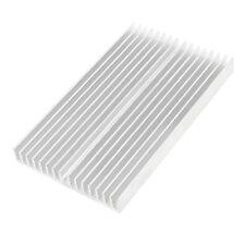 Tono de plata Enfriador de aluminio Radiador Disipador de calor 100x60x10mm T5