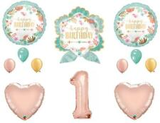 Boho Wild One Arrow 1st Birthday Party Balloons Decoration Supplies Rose Gold