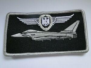 Nametag Pilot  Eurofighter   in silber mit  Klett uGst.ca 10 x 6 cm