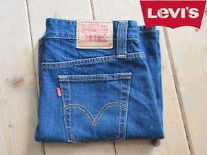 JEANS GONNA LEVIS STRAUSS LOW SLOUCH DENIM BLU VINTAGE GRADE A+