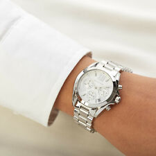 BRAND NEW MICHAEL KORS MK6174 MINI  BRADSHAW SILVER WHITE DIAL WOMEN WATCH UK