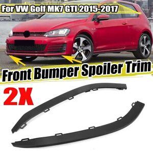 Pair Front Bumper Lip Lower Spoiler Trim For VW Golf MK7 GTI 2015-17 5G0805903B