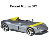 1:18 Bburago Ferrari Monza SP1 Open Close Diecast Model Racing Car Silver Gift