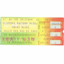 THE MOODY BLUES Concert Ticket Stub PHILLY 11/20/81 LONG DISTANCE VOYAGER TOUR