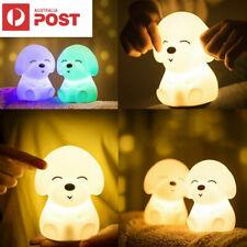 USB 7 Colors Dog Soft Silicone LED Touch Sensor Light Cute Night Light Children