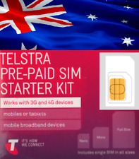 Telstra, Australian Trio SIM, prepaid starter kit. For using in AUSTRALIA.