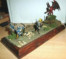 "Dungeons & Dragons PATHFINDER FantasY 25mm diorama  7"" DIAMETER ""DEMON ATTACK"""