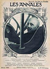Les annales n°2085 du 10/06/1923 Gabriele d'Annunzio Ida Rubinstein Crapouillot