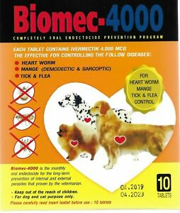 10 tablet Pet Dog prevent Protection tick flea heart gard Biomec