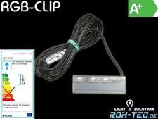 RGB-LED CLIP als Glaskantenbeleuchtung mit 2m Anschlussleitung (Glasplatte)