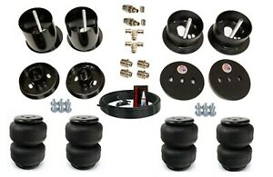 """3/8"""" Front Rear Air Lift D2500 Ride Suspension Bags Brackets Fits 63-64 Cadillac"""