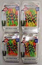 """Pride Tee Evolution Golf Tees - 3 1/4"""" -  Fruit/Black - 4 Packs of 30 (11810)"""