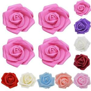 50Pcs Large 7CM Artificial Flower Foam Rose Heads Wedding Decor Party I7H5