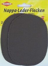 Kleiber Nappa Leather Patches - Sew On - Elbow or Knee - Dark Gray New & Sealed