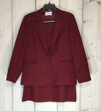 Vtg Levi's Bend Over Dress Suit In Winter Berry Women's Size 18 See Measurements
