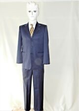 "Sz 36 S 29"" Inseam 28"" Waist Super 110s Wool Blend Blue 3 Button Suit by VEDI"