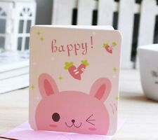Gift Card Creative Blessing Card Pinky Blinky Rabbit COMPLIM. SERVICE or MIN. 5