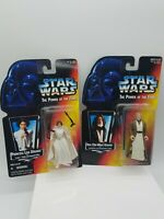 Lot 2 Star Wars POTF Power of the Force Ben Obi-Wan Kenobi & Princess Leia