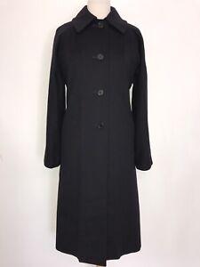 AQUASCUTUM -Ladies Long BLACK 100% CASHMERE COAT - Size 16 - WORN ONCE -STUNNING