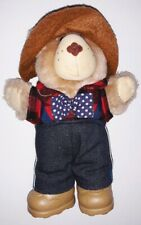 """1986 CABBAGE PATCH FURSKINS  PLUSH TEDDY BEAR with hat and boots 7"""""""