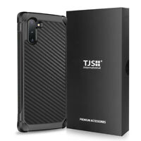 For Samsung Galaxy Note10+ Plus, Phone Case TJS Impact Carbon Fiber Cover