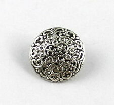 60PCS Tibetan silver fligree round button beads A15354