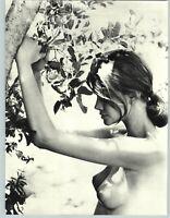1962 Sam Haskins Female Model Outdoor Nude Breasts Nipples Tree Photo Gravure