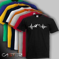 Camiseta latido corazon montaña montañero mountain pulso ENVIO 24/48h