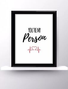 Greys Anatomy Quotes Tv Series Show Poster Print Wall Hanging Decor Fan Gift Art