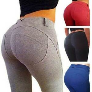 Women Push Up Sport Leggings Yoga Pants Running Jogging Gym Fitness With Pocket