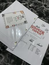 More details for stranger things signed script collectible rare