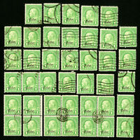 US Stamps # 669 F-VF Used Lot of 40 Catalog Value $90.00