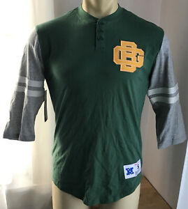 Green Bay Packers Mens 3/4 Sleeve Henley Shirt Small Mitchell & Ness NFL NWT $50