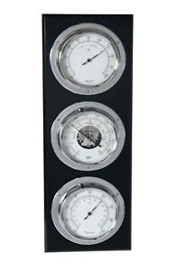 Barigo 386 Moderne Kapitäns Wand Wetterstation Barometer Thermometer Hygro Chrom