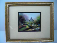 Thomas Kinkade Hidden Gazebo Framed Accent Print w. Certificate of Authenticity