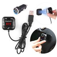 Neu Bluetooth Auto MP3 FM Transmitter Freisprechanlage USB Ladegerät SD KFZ