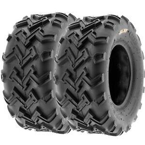 SunF 22x10-10 ATV UTV Tires 22x10x10 All Terrain Tubeless 6 PR A001  [Set of 2]