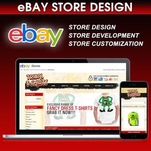 eBay Store Design Template Shop Custom Mobile Responsive Listing Https HTML 2021