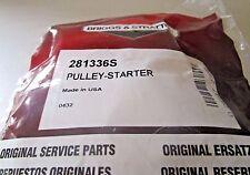 (m276) Genuine OEM Briggs & Stratton # 281336s Rewind Recoil Starter Pulley