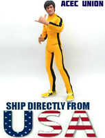 "Bruce Lee 1/6 Game of Death Yellow Suit For 12"" Hot Toys Male Figure USA SELLER"