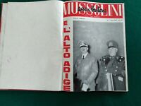 """""""MUSSOLINI ASSO DI BASTONI"""" RIVISTA DEL 1962 RACCOLTA RILEGATA DI 4 NUMERI"""