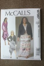 McCall's Sewing Pattern Misses Shrug and Dresses Size 8-10-12-14-16
