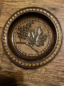 Vintage Decorative Hand Carved Wooden Bowl