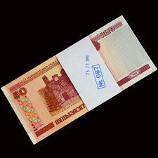 Full Bundle 100 PCS, Belarus 50 Rubles, 2000 (2010), P-25b, UNC