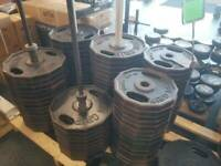 IRON GRIP OLYMPIC WEIGHTS - AMERICAN MADE 35 lb PLATE - 100's of lbs. AVAILABLE
