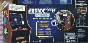 "Arcade 1UP Pac-Man Home Arcade Cabinet 45.8""H 40th Anniversary 17"" LCD Screen"